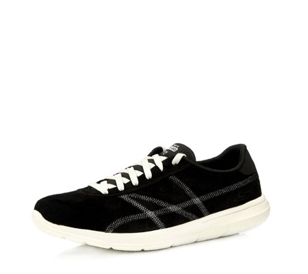 Skechers On the Go City Posh Suede Lace Up Trainer