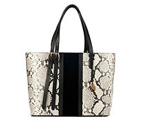 Amanda Wakeley The Dean Stripe Large Leather Tote Bag - 166428