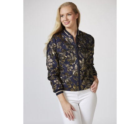 Helene Berman Metallic Bomber Jacket
