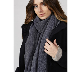 Dressage by Paul Costelloe Wool Blend Herringbone Scarf - 169129