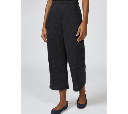 Sweater Knit Cropped Trousers by Nina Leonard