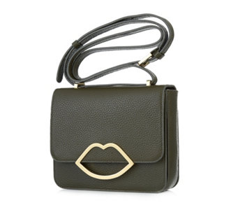 Lulu Guinness Medium Marcie Grainy Leather Crossbody Bag - 160730