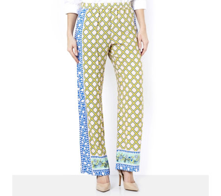 C. Wonder Printed Full Length Regular Trousers