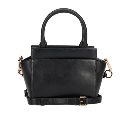 Amanda Wakeley Mini Sutherland Leather Grab Bag with Crossbody Strap