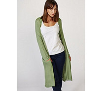 Join Clothes Lightweight Knit Long Sleeve Edge to Edge Cardigan - 168430