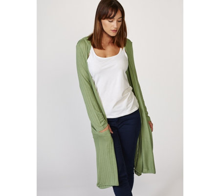Join Clothes Lightweight Knit Long Sleeve Edge to Edge Cardigan