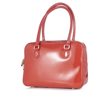 Lulu Guinness Patent Leather Large Jenny Bag