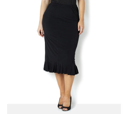 Flute Hem Skirt by Michele Hope