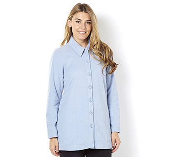 Denim & Co. Long Sleeve Fleece Tunic Shirt - 162131