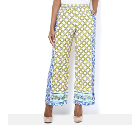 C. Wonder Printed Full Length Petite Trousers