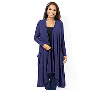 Join Clothes Rib Jersey Longline Pocket Cardigan - 163431