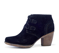 Clarks Carleta Lyon Suede Ankle Boots with Lace Up Front - 161532