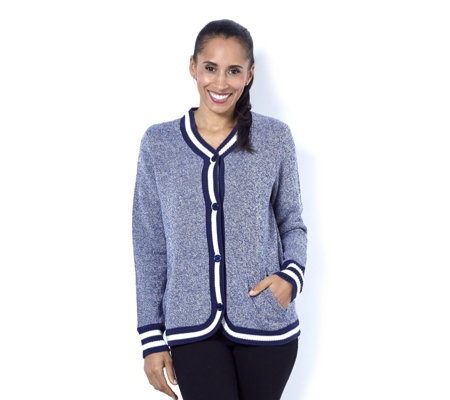 C. Wonder Long Sleeve Jacket with Sweater Rib