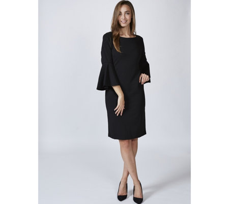 Ronni Nicole Flared Sleeve Dress