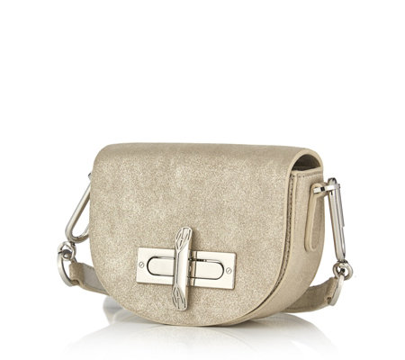 Amanda Wakeley The Mini Niven Leather Shoulder Bag with Adjustable Strap