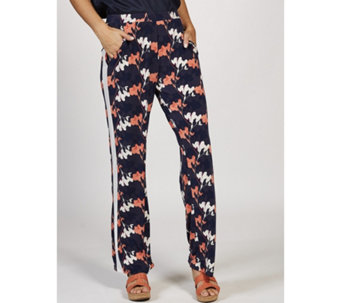 Christopher Fink Floral Printed Jersey Trousers - 167133