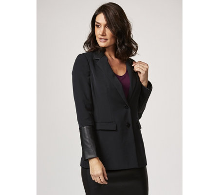 Ruth Langsford Faux Leather Trim Blazer