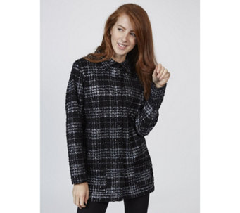 Tweed Foil Print Boucle Shirt by Michele Hope - 150534