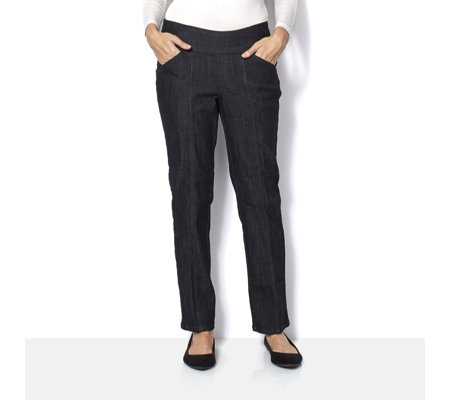 "Denim & Co. ""How Smooth"" Straight Leg Tall Jean"