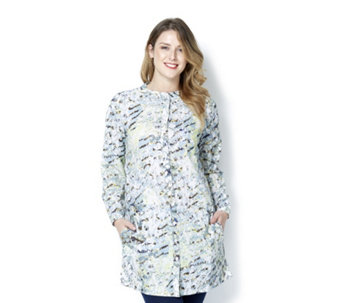 Fashion by Together Long Printed Button Through Shirt - 164334