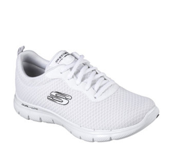 Skechers Flex Appeal 2.0 Newsmaker Mesh Lace Up Trainer with Memory Foam -  165634