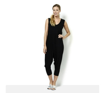 Join Clothes Jersey Cropped Sleeveless Jumpsuit - 166534