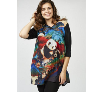 Butler & Wilson Panda Print Chinese Style Top - 169034