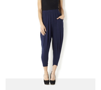 Join Clothes Pleat Front Cropped Drape Trousers - 145635