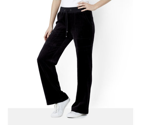 MarlaWynne Drawstring Easy Fit Velour Trousers