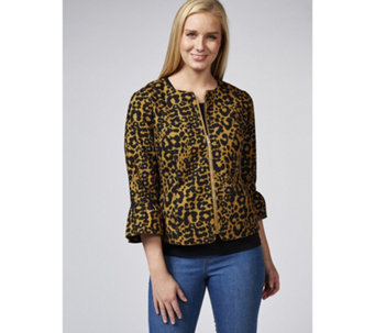 C. Wonder Animal Printed Stretch Pique Jacket - 165236