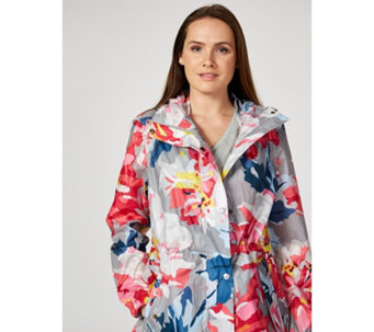 Joules Printed Waterproof Packaway Coat - 170436
