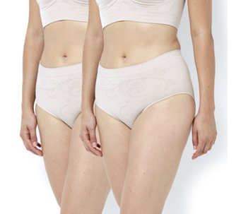 Vercella Vita Medium Control High Waist Brief w/ Swirl Design Pack of 2 - 166137