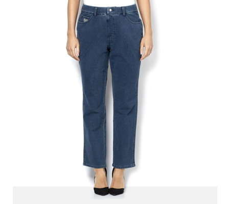 Quacker Factory DreamJeannes Straight Leg Short Length Jeans