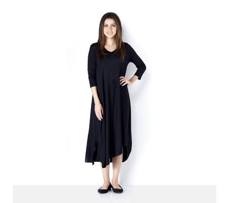 Yong Kim Modal Maxi Dress with Balloon Hem