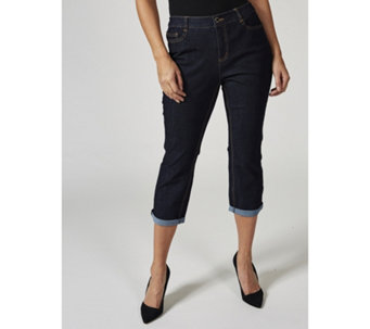 C. Wonder Functional Roll Cuff Crop Jeans Petite - 165238