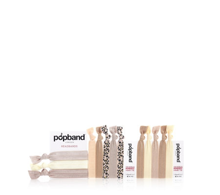 Popbands Set of 10  Hairbands and 3 Headbands
