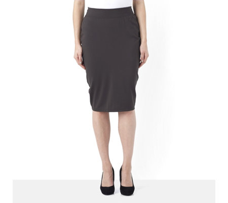 Kim & Co Milano Knit Pencil Skirt with Slit