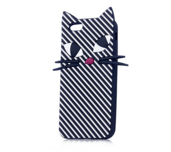 Lulu Guinness Stripe Kooky Cat iPhone 6 Case - 160739