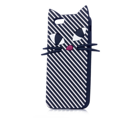 Lulu Guinness Stripe Kooky Cat iPhone 6 Case