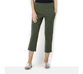Denim & Co. Crop Trousers with Back Vents - 164939