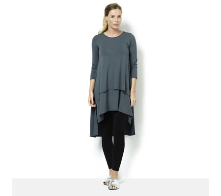 Join Clothes Round Neck Dipped Back Tunic