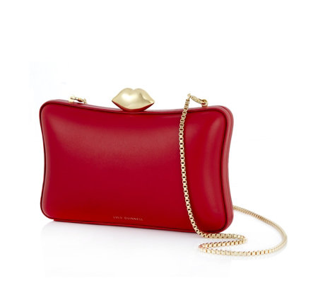 Lulu Guinness Lavinia Smooth Leather Clutch Bag