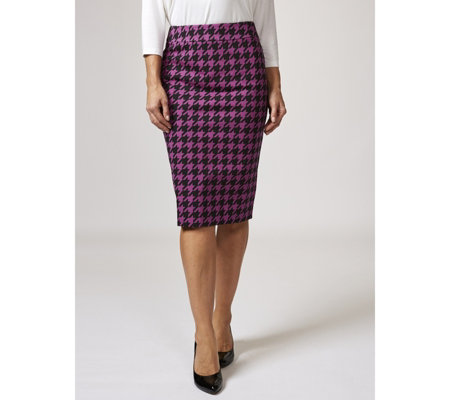 Ruth Langsford Hounds Tooth Pencil Skirt