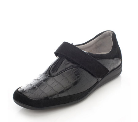 Vitaform Hook & Loop Shoe with Stretch Croco &Velour