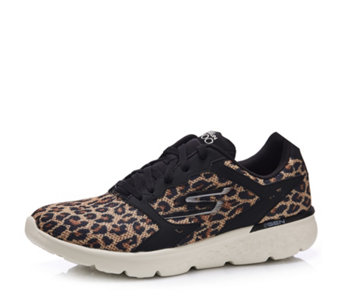 Skechers GOrun 400 Leopard Printed Mesh Lace Up Trainer - 163141