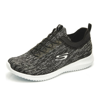 Skechers Ultra Flex Knitted Bright Horizon Hi Appeal Bungee Slip On Trainer - 165641