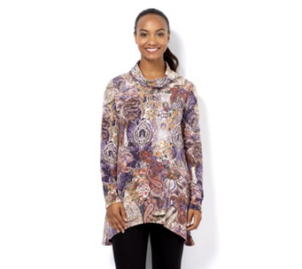 Mr Max Printed Cowl Neck Tunic - 161642