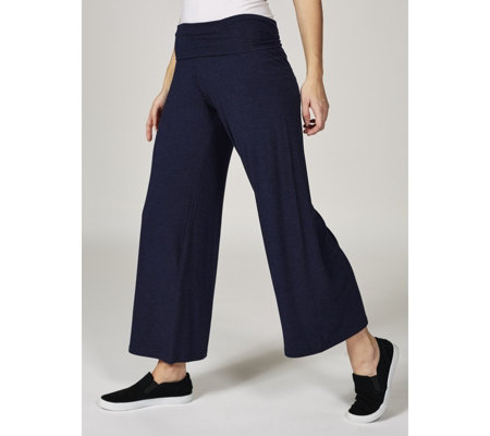 Join Clothes Folded Waistband Wide Leg Trousers