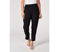 H by Halston Jet Set Jersey Ankle Trouser with Split Cuff Regular - 172342