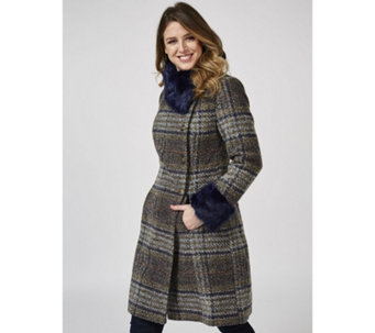 Joe Browns Sophisticated Check Coat - 170343